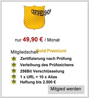 Certified-Shop - BK III_ Bestellung 49,90 € - geprüfter Online Shop - DAS Gütesiegel