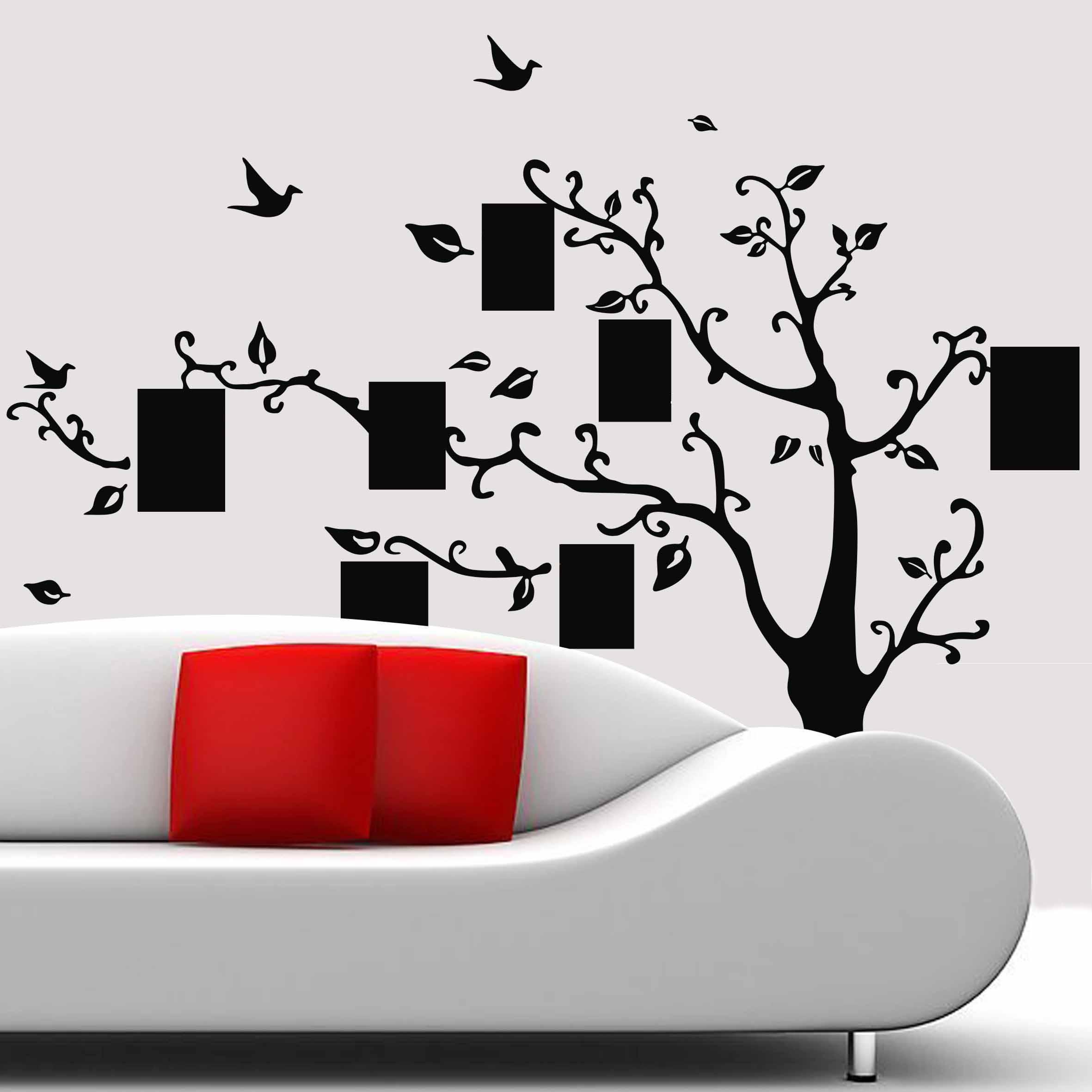 wandtattoo bilderrahmen baum innenraumdesign wandsticker ebay. Black Bedroom Furniture Sets. Home Design Ideas