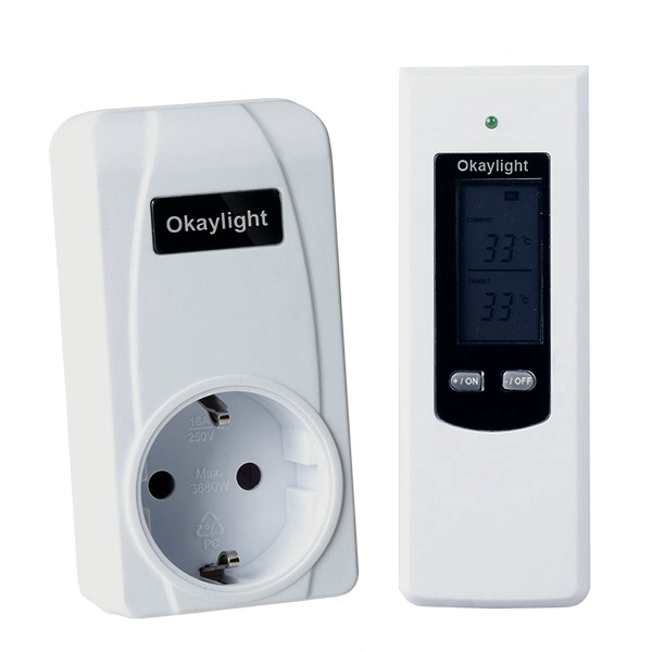 infrarotheizung funk raumthermostat elektro heizung thermoschalter thermostat ebay. Black Bedroom Furniture Sets. Home Design Ideas