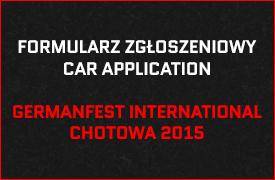 Formularz zgłoszeniowy Germanfest Chotowa 2014
