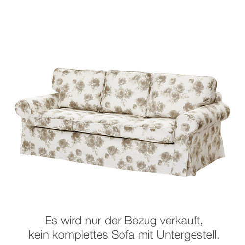 bezug norlida wei beige f r ikea ektorp pixbo. Black Bedroom Furniture Sets. Home Design Ideas