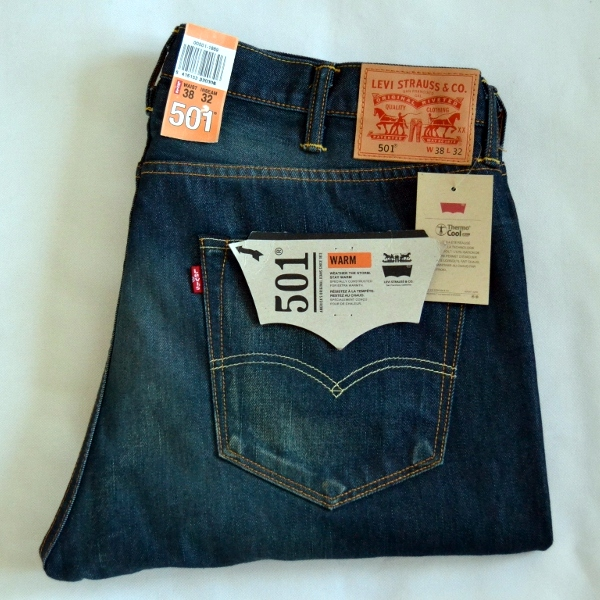 wow new levis 501 men 39 s denim jeans trousers w38l32. Black Bedroom Furniture Sets. Home Design Ideas