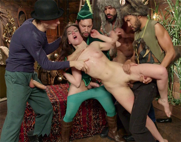 HardCore Gang Bang - Juliette March - Dreams Do Cum True! Peter Pan And the Lost Boys Gang-Bang Parody! WebRip (2015)