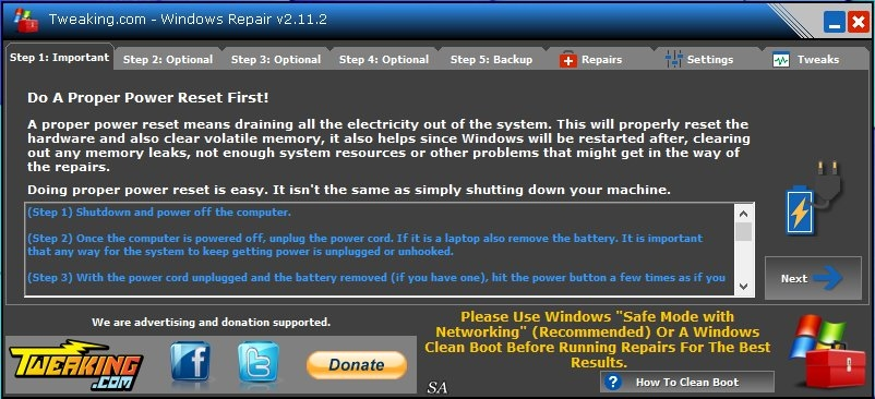 Windows Repair 2.11.2 + Portable [Freeware / English]