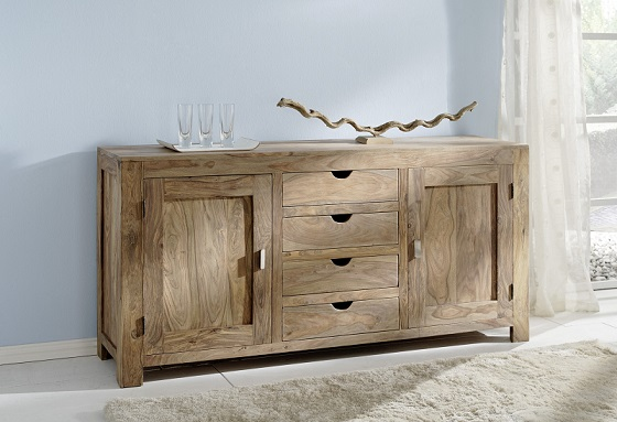 kommode yoga 6538 wolf m bel natur anrichte schrank sideboard massivholz ebay. Black Bedroom Furniture Sets. Home Design Ideas