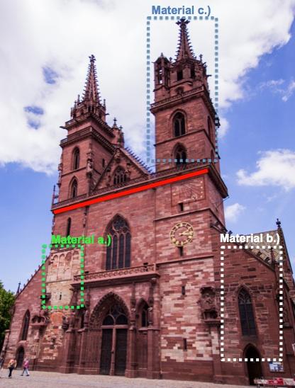 Abb. 2. Die Westfassade mit dem hellen Molassesandstein am Georgsturm