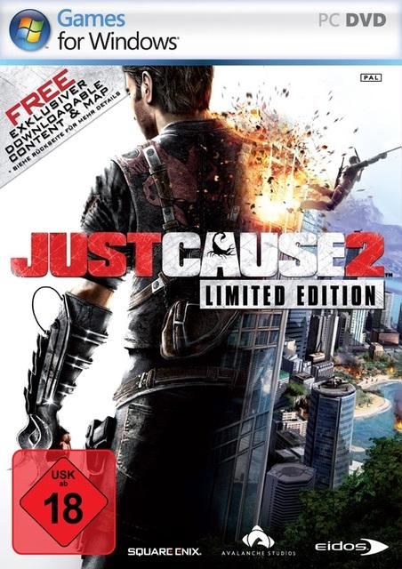 Just Cause 2 Deutsche  Texte, Untertitel, Menüs, Videos, Stimmen / Sprachausgabe Cover
