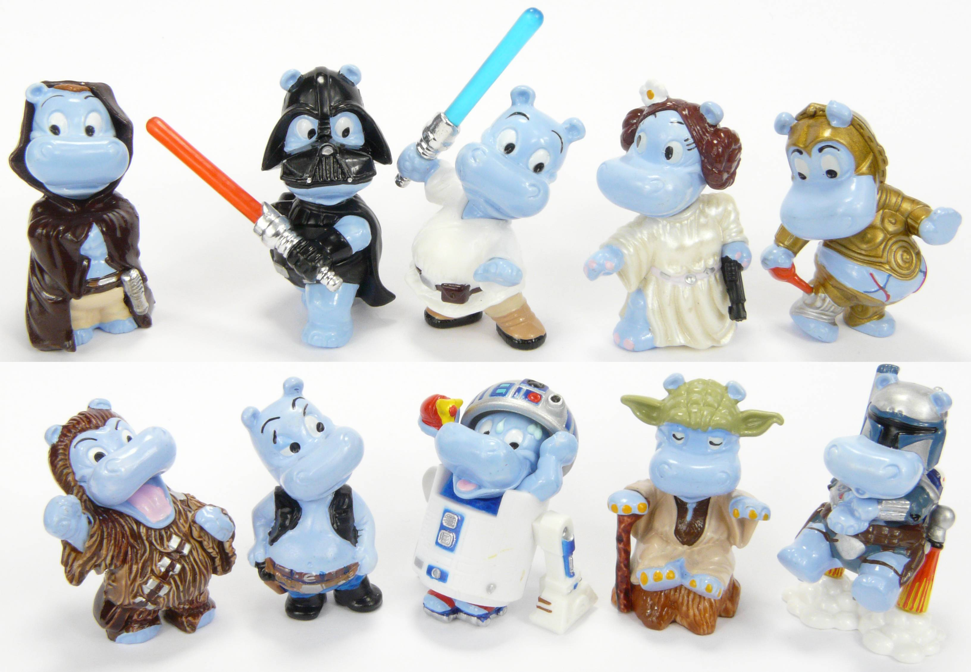 original happy hippo star wars kinder surprise eggs set hippos ferrero egg toys. Black Bedroom Furniture Sets. Home Design Ideas