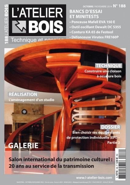 L'Atelier Bois Magazine No.188 - Octobre-Novembre 2014