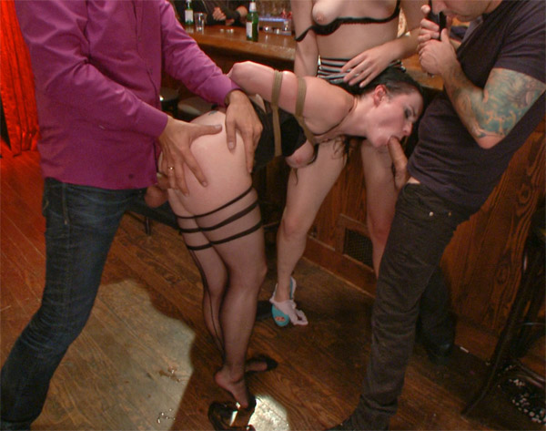 Public Disgrace - Veruca James - Slutty Veruca Publicly Shamed and Fucked Hard in Crowded Bar WebRip (2015)