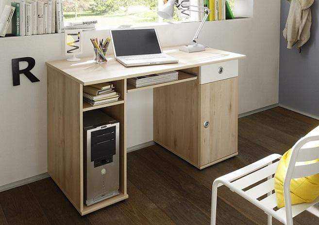 Schreibtisch wiki computertisch edelbuche wei for Jugendzimmer tisch