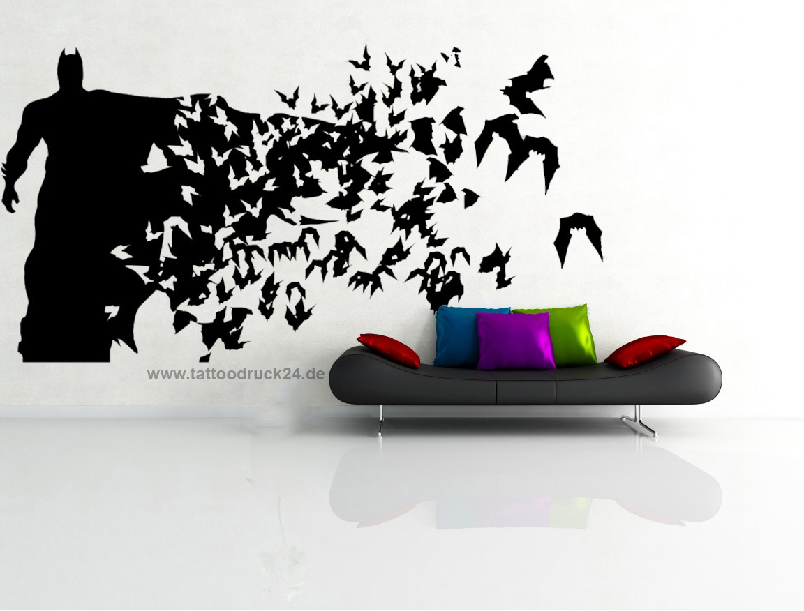 wandtattoo batman mit flederm use innenraumdesign. Black Bedroom Furniture Sets. Home Design Ideas
