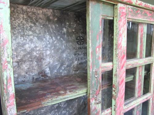 Antike vitrine usedlook schiebet r schauvitrine for Vitrine indisch
