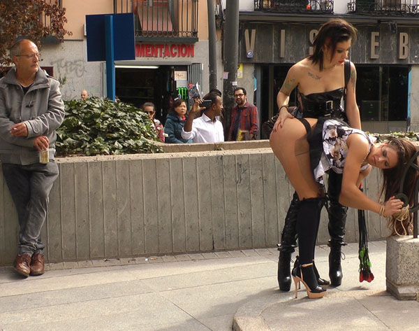 Public Disgrace - Satrina, Fenyx Santos, Gala Brown - Beautiful Spanish Slut Completely Humiliated on Stage at Live Concert [HD]