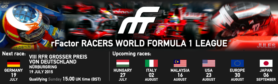 rFactor Racers - World Formula 1 League