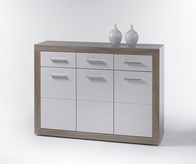 kommode can can 2 anrichte sideboard wohnzimmerschrank sonoma eiche wei ebay. Black Bedroom Furniture Sets. Home Design Ideas