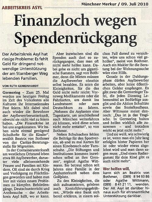 Finanzloch beim AK Asyl