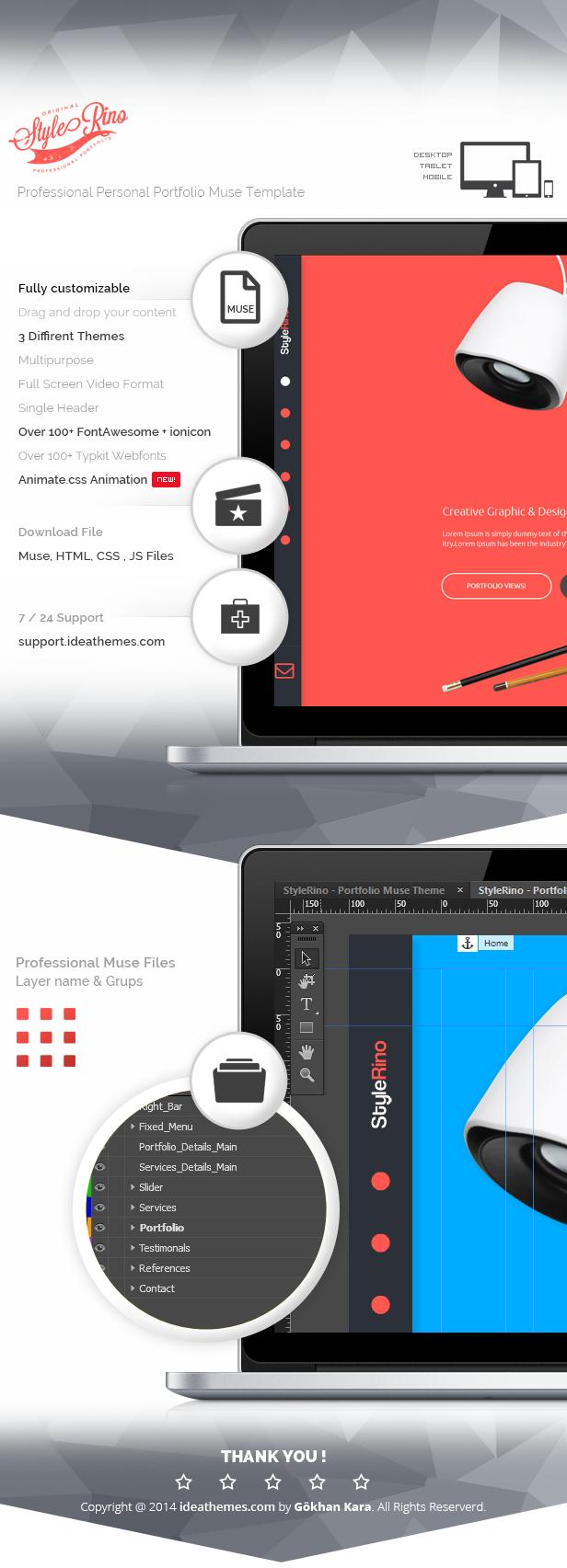 StyleRino - MultiPurpose Portfolio Muse Theme