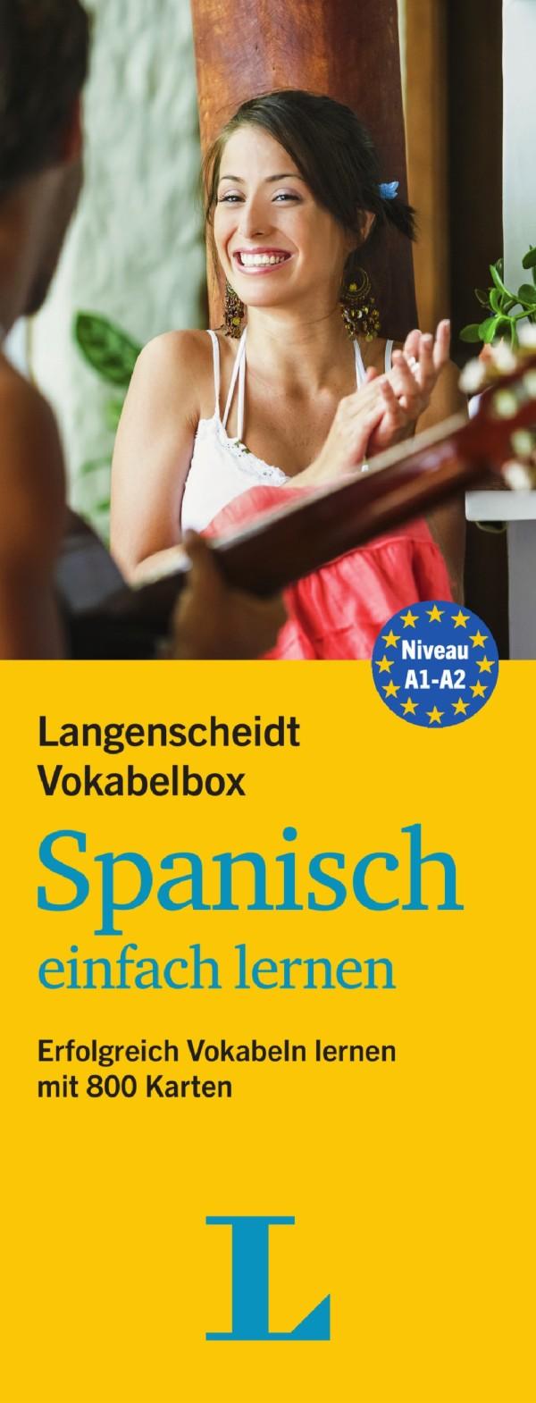 langenscheidt vokabelbox spanisch einfach lernen mit 800 karten a1 bis a2 neu ebay. Black Bedroom Furniture Sets. Home Design Ideas