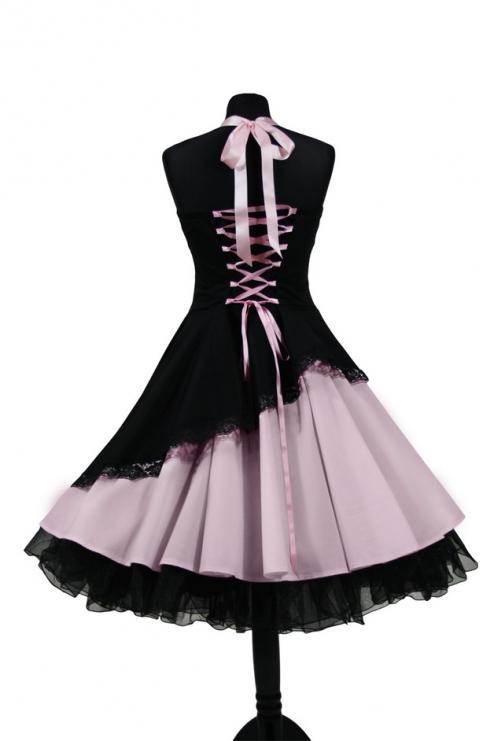 petticoat abendkleid 50er 60er jahre schr g rosa abiball konfirmation kleid ebay. Black Bedroom Furniture Sets. Home Design Ideas
