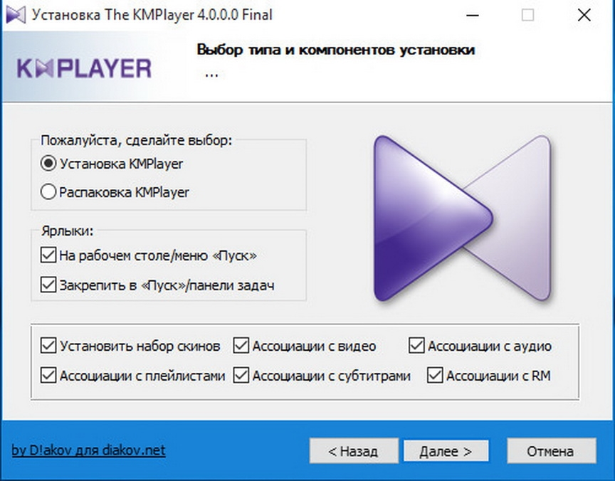 The KMPlayer 4.0.0.0 [RePack] [Shareware]
