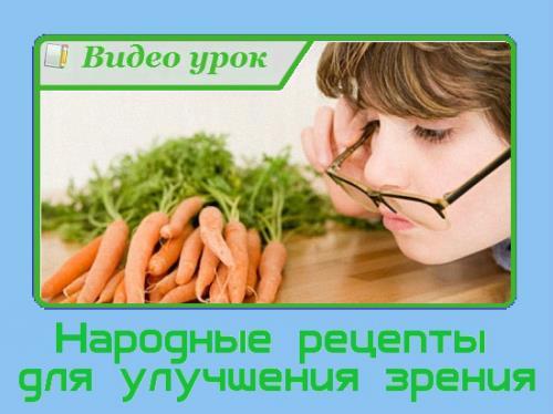 Народные рецепты для улучшения зрения (2015/WebRip)