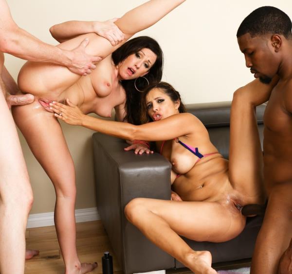 Francesca Le, Jennifer White - Interracial DP Wife Swap Foursome! 720p Cover