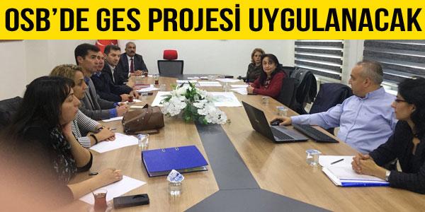 OSB GES projesi için sunum yapıldı