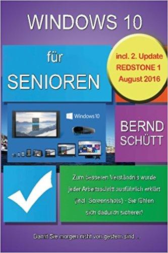 Buch Cover für Windows 10 f&uumlr Senioren
