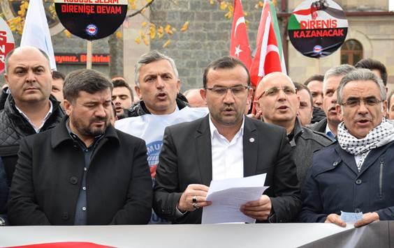 'KUDÜS' KARARI  PROTESTO EDİLDİ