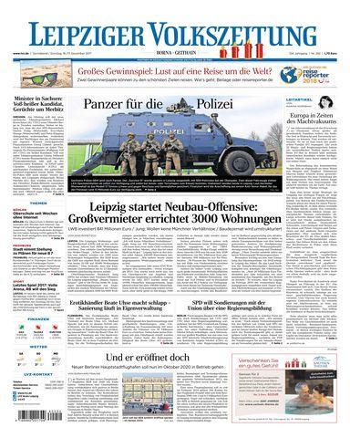 Leipziger Volkszeitung Borna Geithain 16 Dezember 2017