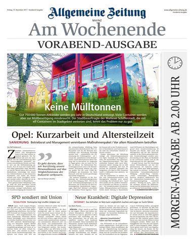 Allgemeine Zeitung Mainz 16 Dezember 2017