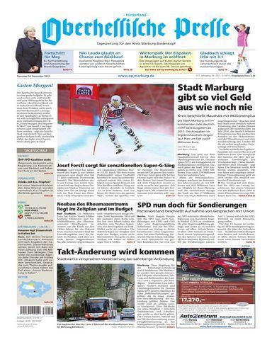 Oberhessische.Presse.Hinterland.16.Dezember.2017