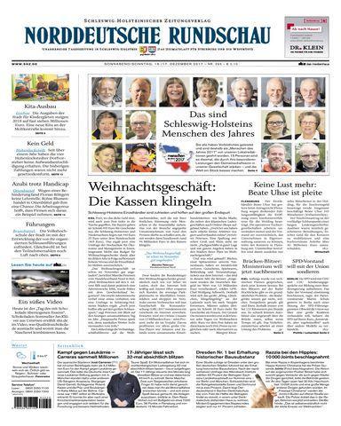 Nrrddeutsche Rundschau 16 Dezember 2017
