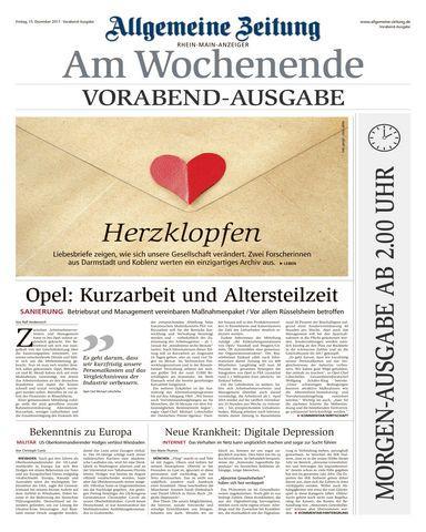 Allgemeine Zeitung Rhein Main Anzeiger 16 Dezember 2017