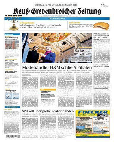 Neuss Grevenbroicher Zeitung Dormagen 16 Dezember 2017