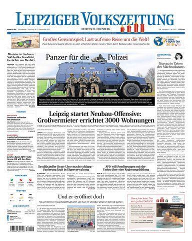 Leipziger Volkszeitung Delitzsch Eilenburg 16 Dezember 2017