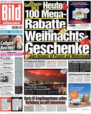 Bild Zeitung Muenchen 16 Dezember 2017