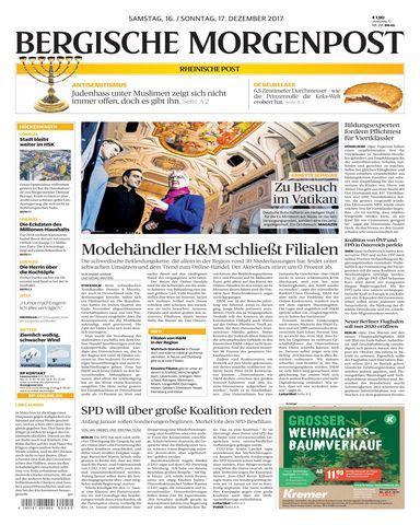 Bergische Morgenpost 16 Dezember 2017