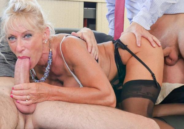 Marina Beaulieu - Busty French mature Marina Beaulieu enjoys anal sex with DP in threesome 1080p Cover