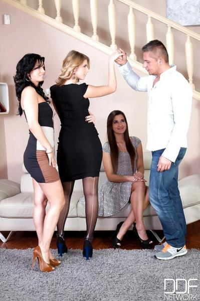 Aria Logan and Vicky Love and Cindy - Pussy Abundance - One Cock Stuffs Sha ...