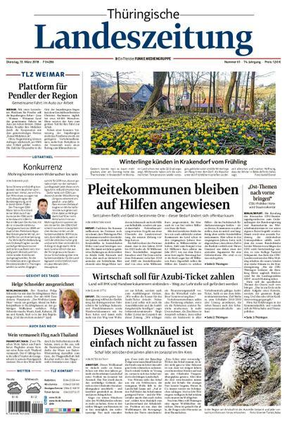 : Thueringische Landeszeitung Weimar 13 Maerz 2018