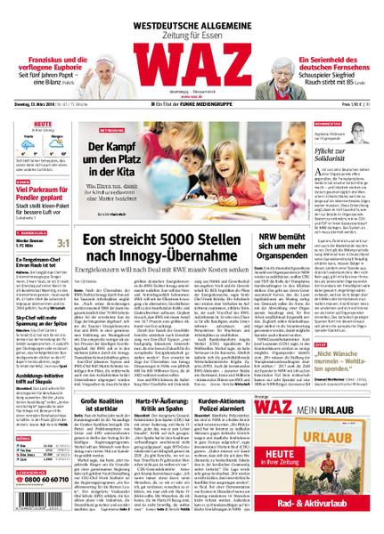 : Waz Westdeutsche Allgemeine Zeitung Essen Steele Kray 13 Maerz 2018