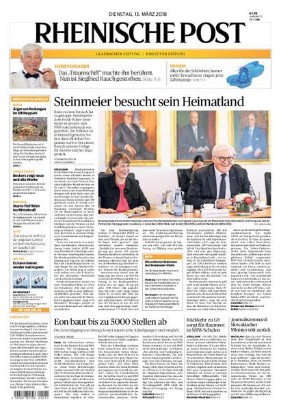 : Rheinische Post Moenchengladbach 13 Maerz 2018