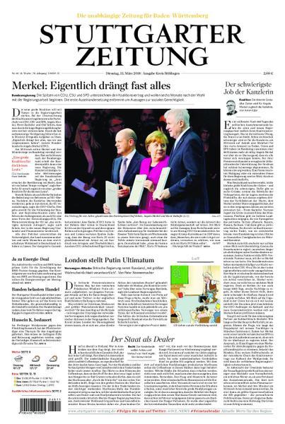 : Stuttgarter Zeitung Kreisausgabe Boeblingen 13 Maerz 2018