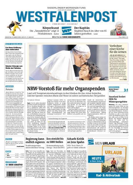 : Westfalenpost Siegen 13 Maerz 2018