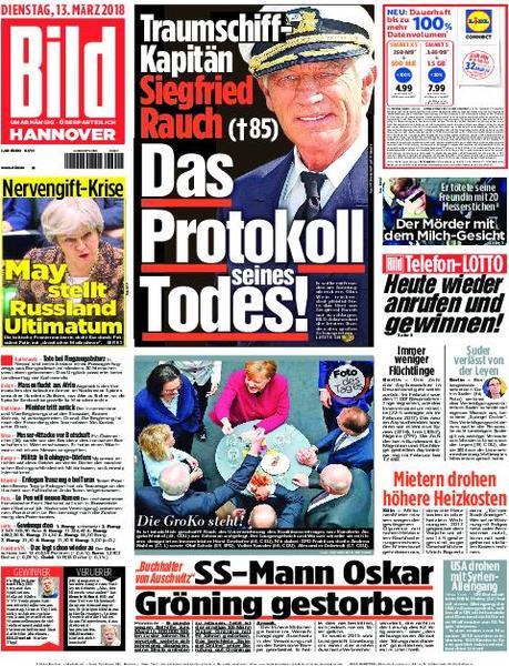 : Bild Zeitung Hannover 13 Maerz 2018