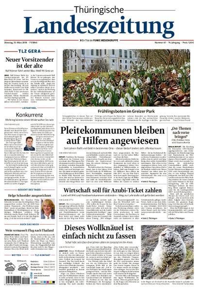 : Thuringische Landeszeitung Gera 13 Maerz 2018