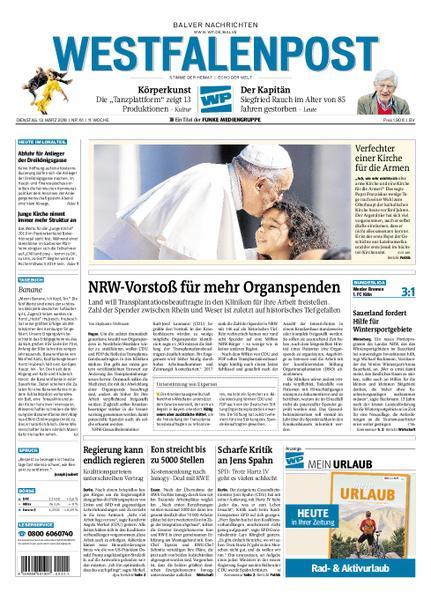: Westfalenpost Balve 13 Maerz 2018