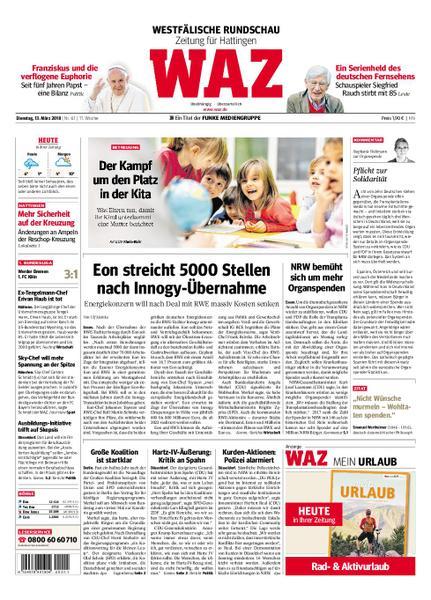: Waz Westdeutsche Allgemeine Zeitung Hattingen 13 Maerz 2018